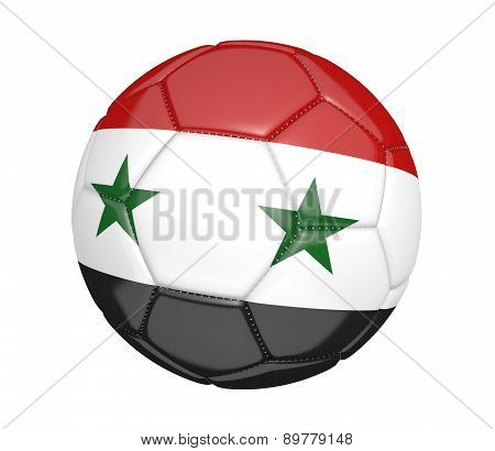 Soccer ball, or football, with the country flag of Syria