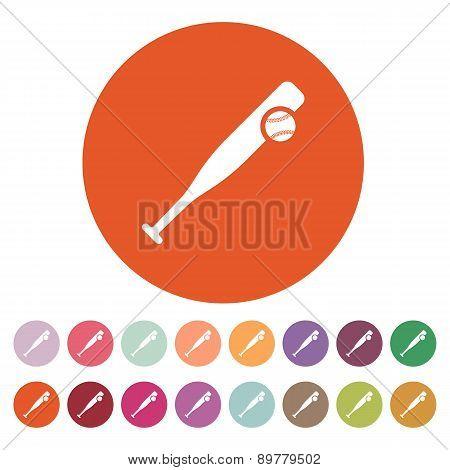 Baseball Icon. Game Symbol. Flat