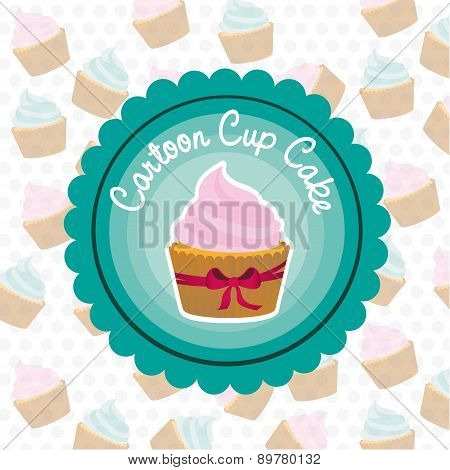 Basic Cupcake Label On Bottom Of Cupcake Pattern