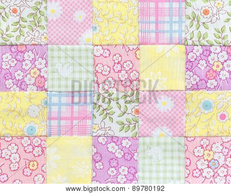 Patchwork Quilt , Basic Pattern Square