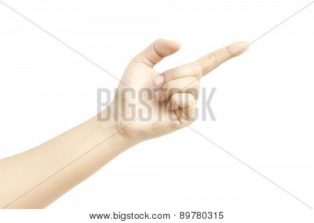 Forefinger Hand Metaphor With Specific Something