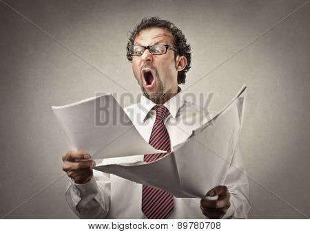 Surprised businessman