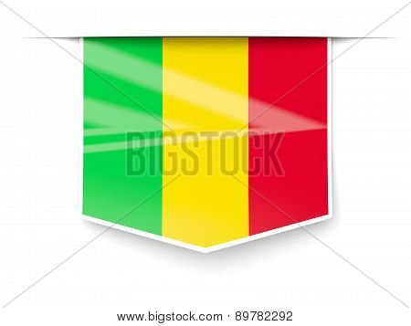 Square Label With Flag Of Mali