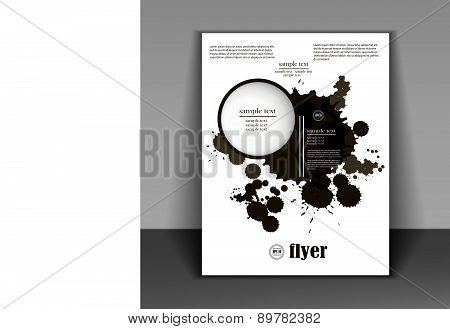 Booklet In A Minimalist Style With Black Spots