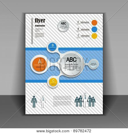 Template Booklet With Elements Of Infographics