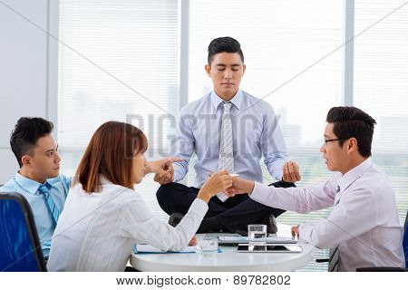 Emotional Business Meeting