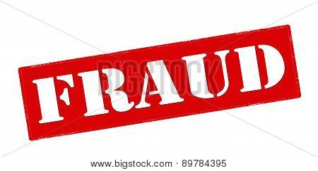 Rubber stamp with word fraud inside vector illustration
