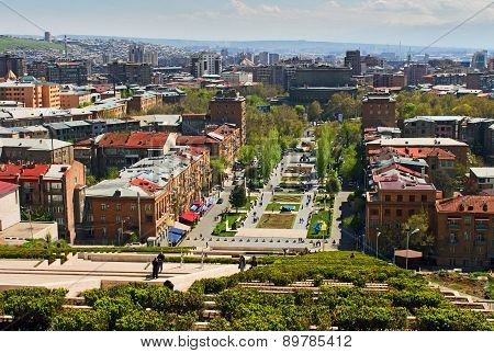 View Of Yerevan From Cascade.