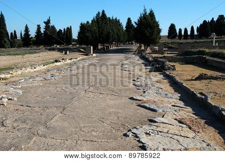 Roman road, Italica.
