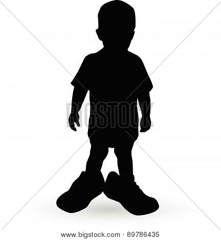 Boy In A Fathers Shoes