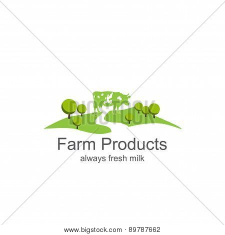 Dairy farm product logo
