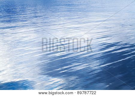 Deep Blue Lake Water Background Texture
