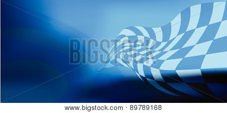 race flag waveing abstract background vector illustration