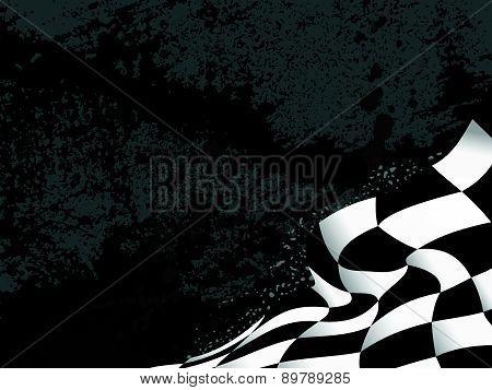 race flag waveing background vector illustration grunge