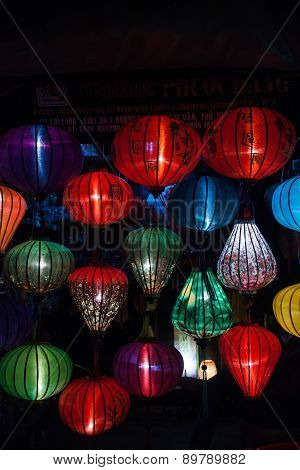 Night lanterns in old Hoi An town