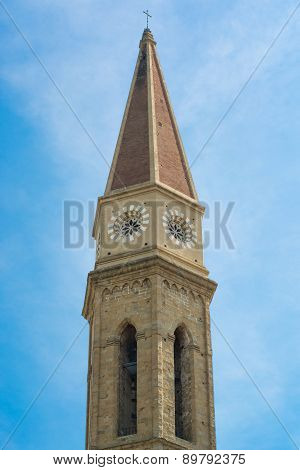 Bell Tower Of The Cathedral Of Arezzo