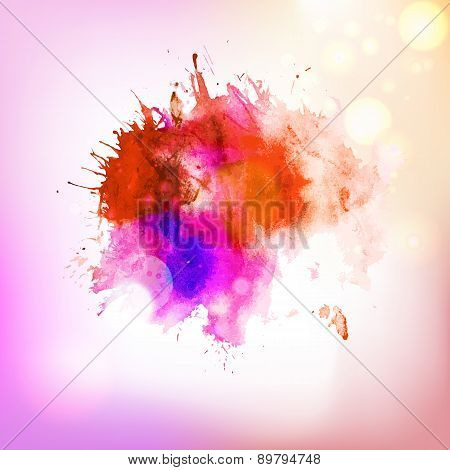 Abstract Red Hot Drawing Splash Element