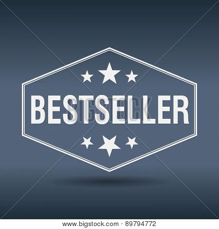 Bestseller Hexagonal White Vintage Retro Style Label