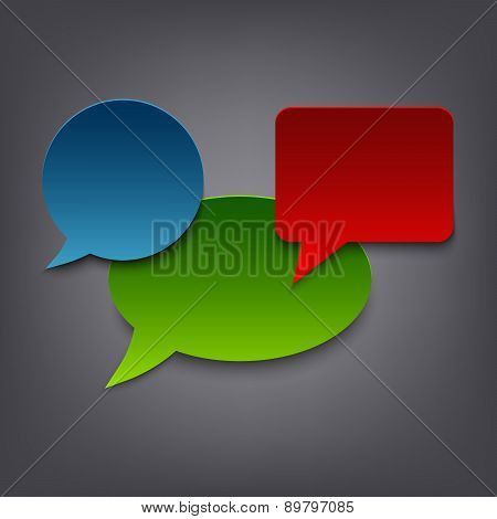 Colored Speak Abstract Bubbles Template
