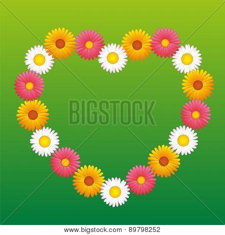 Daisy Aster Marguerite Flowers Heart