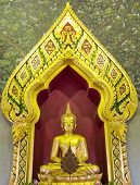 foto of buddha  - Image Buddha pay homage to a Buddha image in thailand - JPG
