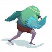 stock photo of animated cartoon  - Vector illustration of sparrow - JPG