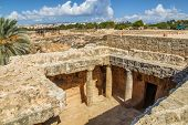 stock photo of king  - Ancient Paphos necropolis known as Tombs of the Kings - JPG
