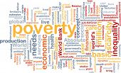 foto of poverty  - Background text pattern concept wordcloud illustration of poverty - JPG