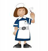 image of matron  - Cartoon medical nurse isolated on white background - JPG