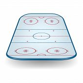 pic of hockey arena  - Ice hockey field isolated on white background - JPG