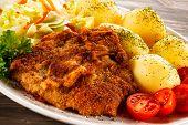 image of pork chop  - Fried pork chop - JPG