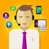 pic of customer relationship management  - call center crm customer relationship management icon - JPG