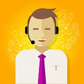 foto of customer relationship management  - call center crm customer relationship management icon - JPG