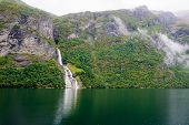 picture of fjord  - Scenic View of the Geiranger fjord Norway - JPG
