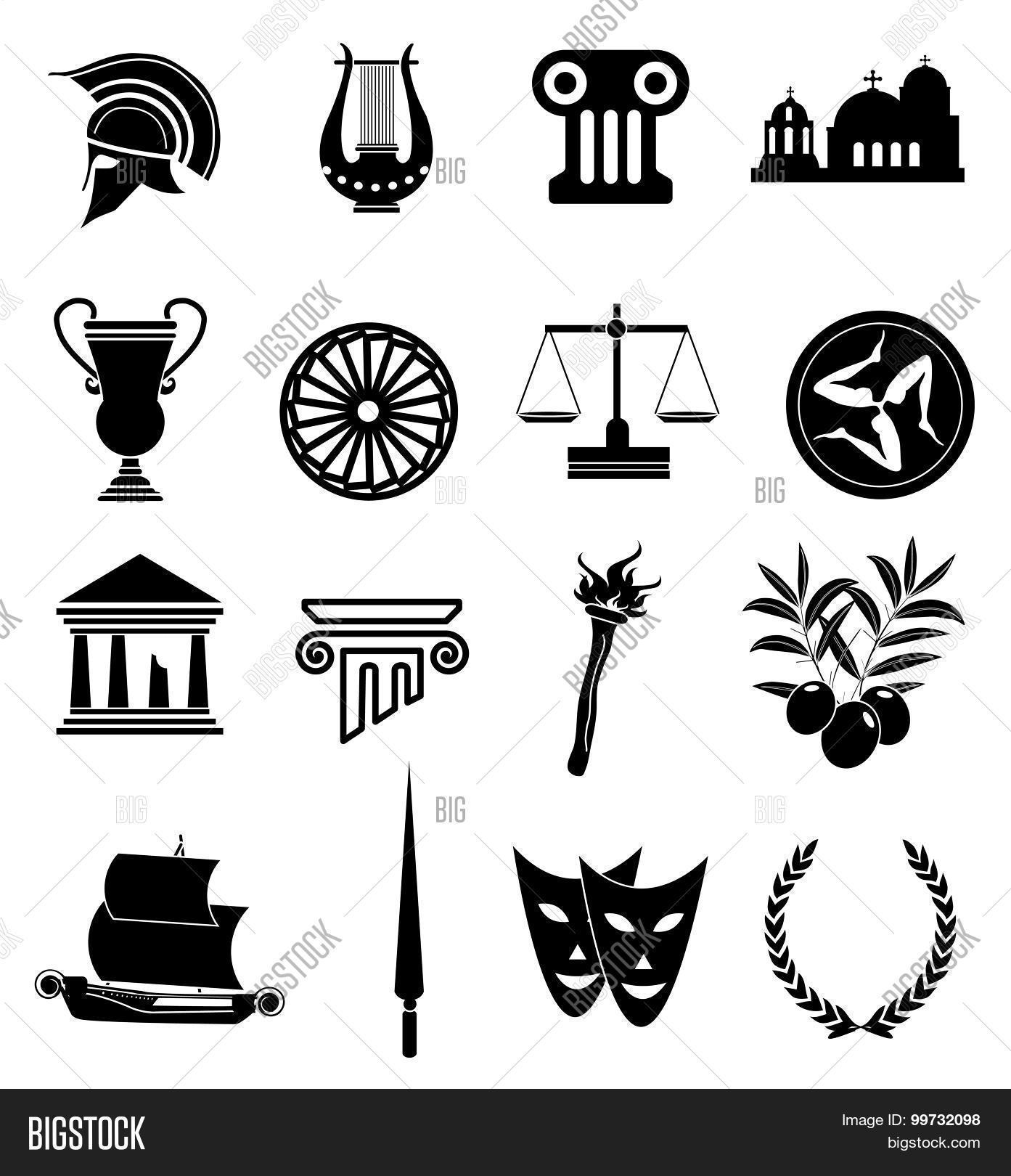 ancient rome icons set vector amp photo bigstock