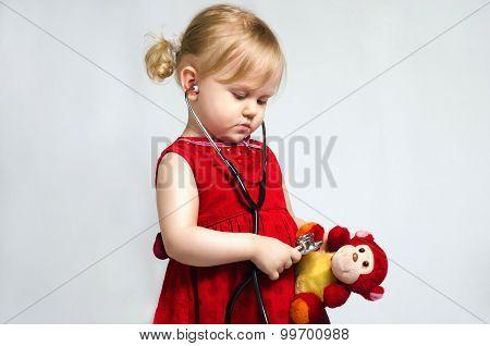 Little Girl In Doctor