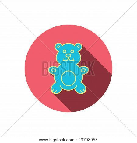 Teddy-bear icon. Baby toy sign.
