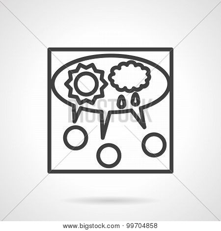 Line vector icon for teamwork