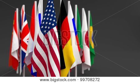 Group Many Flag Countries
