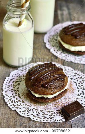 Chocolate Whoopie With Mascarpone.