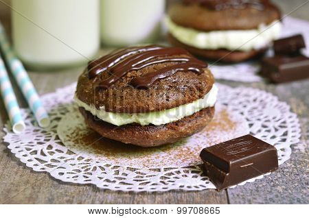 Chocolate Whoopie With Mascarpone.