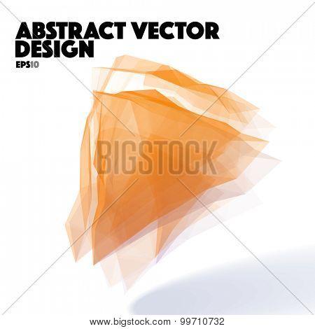 Orange Abstract Vector Design Element