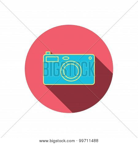 Photo camera icon. Photographer equipment sign.
