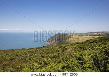 Coast of north Devon England