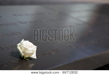 NEW YORK CITY, USA - SEPTEMBER, 2014: Ground zero memorial in New York City