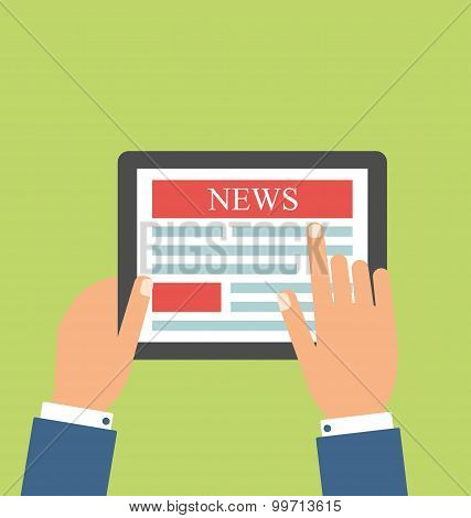 Vector collection of flat and colorful news, marketing and news feed. Design elements for web and mo