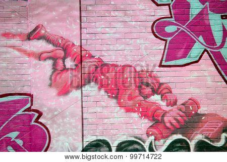 Street art WWI soldier