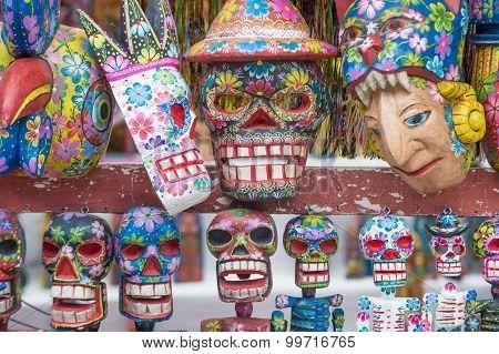 Mayan Wooden Masks