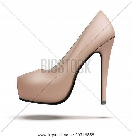 Beige Vintage High Heels Pump Shoes