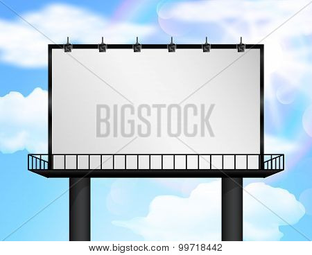 Billboard of blank for new advertisement